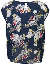 Load image into Gallery viewer, Jackie top navy Floral _Back.jpg