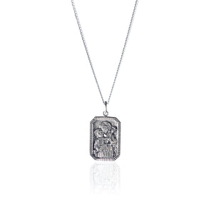 LA LUNA ROSE ST ANTHONY - PATRON SAINT OF MIRACLES - STIRLING SILVER