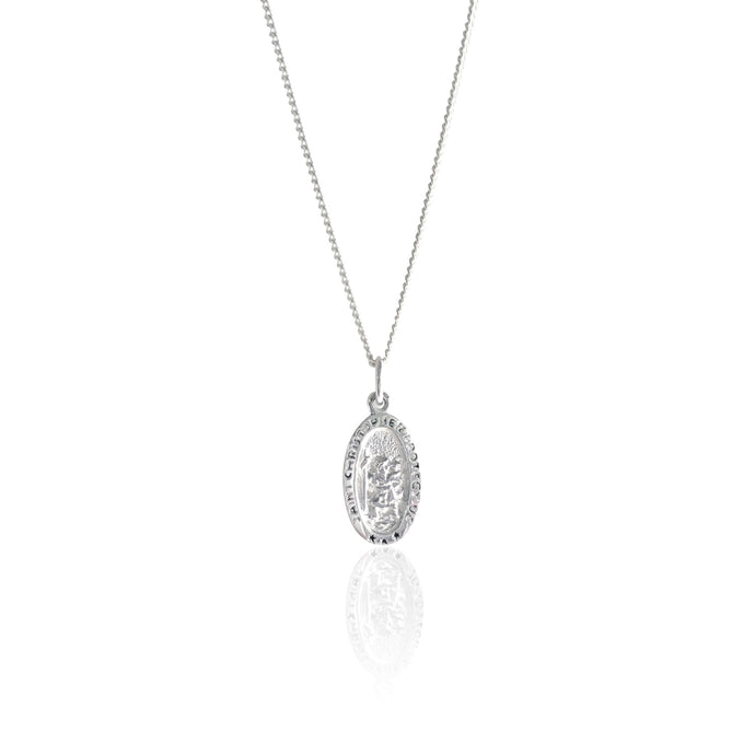 LA LUNA ROSE ST CHRISTOPHER THE PATRON OF TRAVEL CHARM NECKLACE - STIRLING SILVER