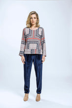 Load image into Gallery viewer, Leeann Top & Yve Pants- Patchwork Print & Navy Velvet 3.jpg