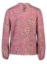 Load image into Gallery viewer, Luna Top Plum Floral _Back.jpg