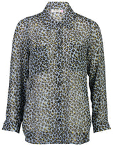 Load image into Gallery viewer, Millie Blouse Blue Leo _Front.jpg