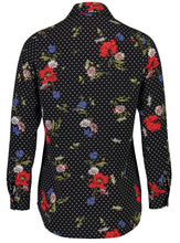 Load image into Gallery viewer, Millie Blouse Floral dot_Back.jpg