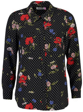 Load image into Gallery viewer, Millie Blouse Floral dot Neck for post_Front.jpg