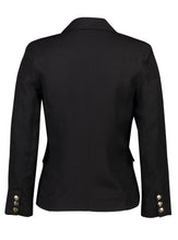 Load image into Gallery viewer, Nina Blazer Black Linen _Back.jpg