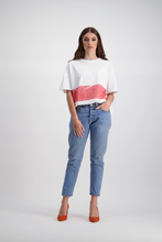 Boyfriend Tee | Red Stripe