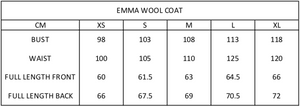 Emma Wool Coat | Jet Black