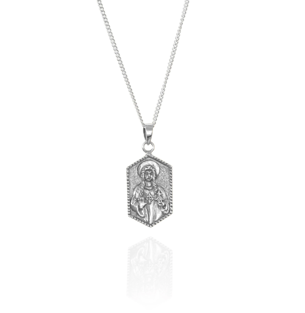 LA LUNA ROSE  ST DWYNWEN - PATRON SAINT OF LOVERS  - STIRLING SILVER