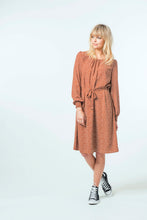 Load image into Gallery viewer, Sophia Dress - Ochre Ditsy.jpg