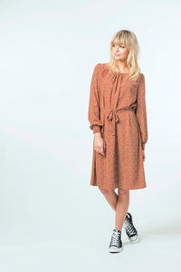 Sophia Dress - Ochre Ditsy.jpg