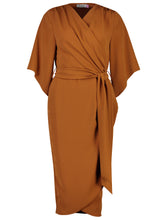 Load image into Gallery viewer, Suki dress burnt caramel_Front.jpg