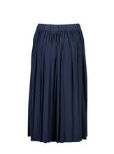 Load image into Gallery viewer, Sydney Skirt Indigo Satin_Back.jpg