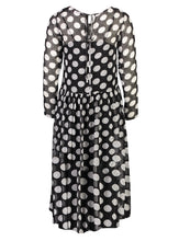 Load image into Gallery viewer, Tamsin Maxi Black Polka _Back.jpg