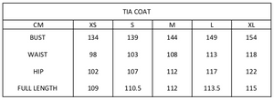 Tia Coat | Gold Cord