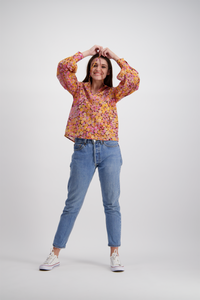 Florence Top | Tropical Pansy