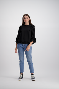 Luca Top | Jet Black