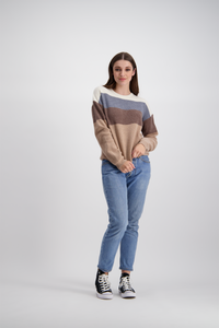 Edie Jumper | Earth Stripe