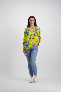 Lulu Top | Citrus Floral