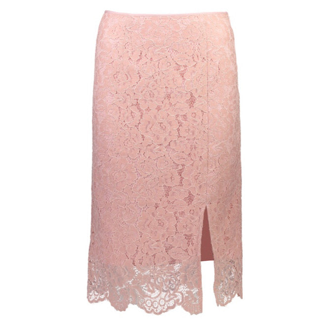 Carmen Split Skirt | Dusty Pink Lace