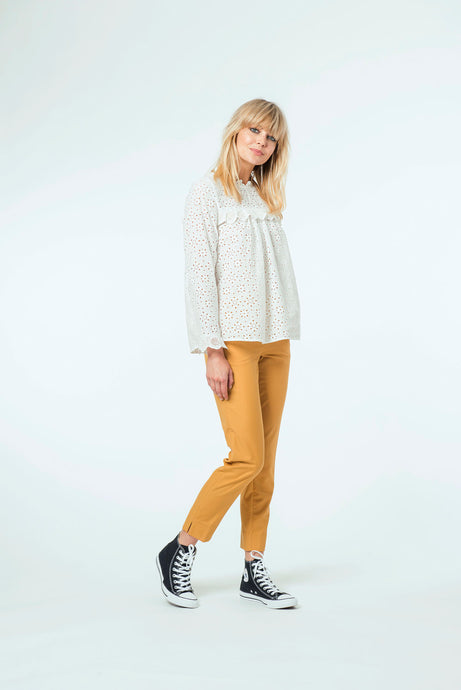 Willow Top & Jade Pant - White Snow & Mustard.jpg
