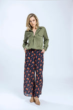 Yvette Shirt & Briar Pants- Green Tencel & Navy Pansy 1.jpg