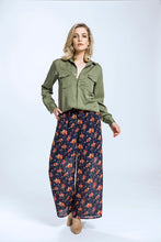 Yvette Shirt & Briar Pants- Green Tencel & Navy Pansy 2.jpg