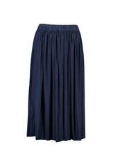 Load image into Gallery viewer, Sydney Skirt Indigo Satin_Front.jpg