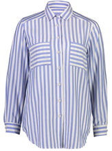 Load image into Gallery viewer, Vanessa Shirt Sky Stripe _Front.jpg
