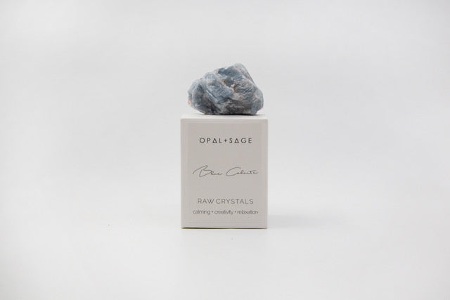 Opal + Sage | Blue Calcite