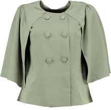 Load image into Gallery viewer, Cape Coat | Olive Green