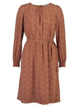 Load image into Gallery viewer, Sophia dress Ochre ditsy_Front.jpg