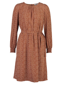 Sophia dress Ochre ditsy_Front.jpg