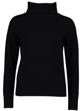 Load image into Gallery viewer, Roll Neck Jumper | Black Cashmere