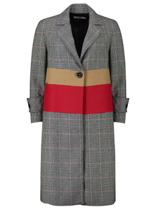Madison Coat | Stripe Check