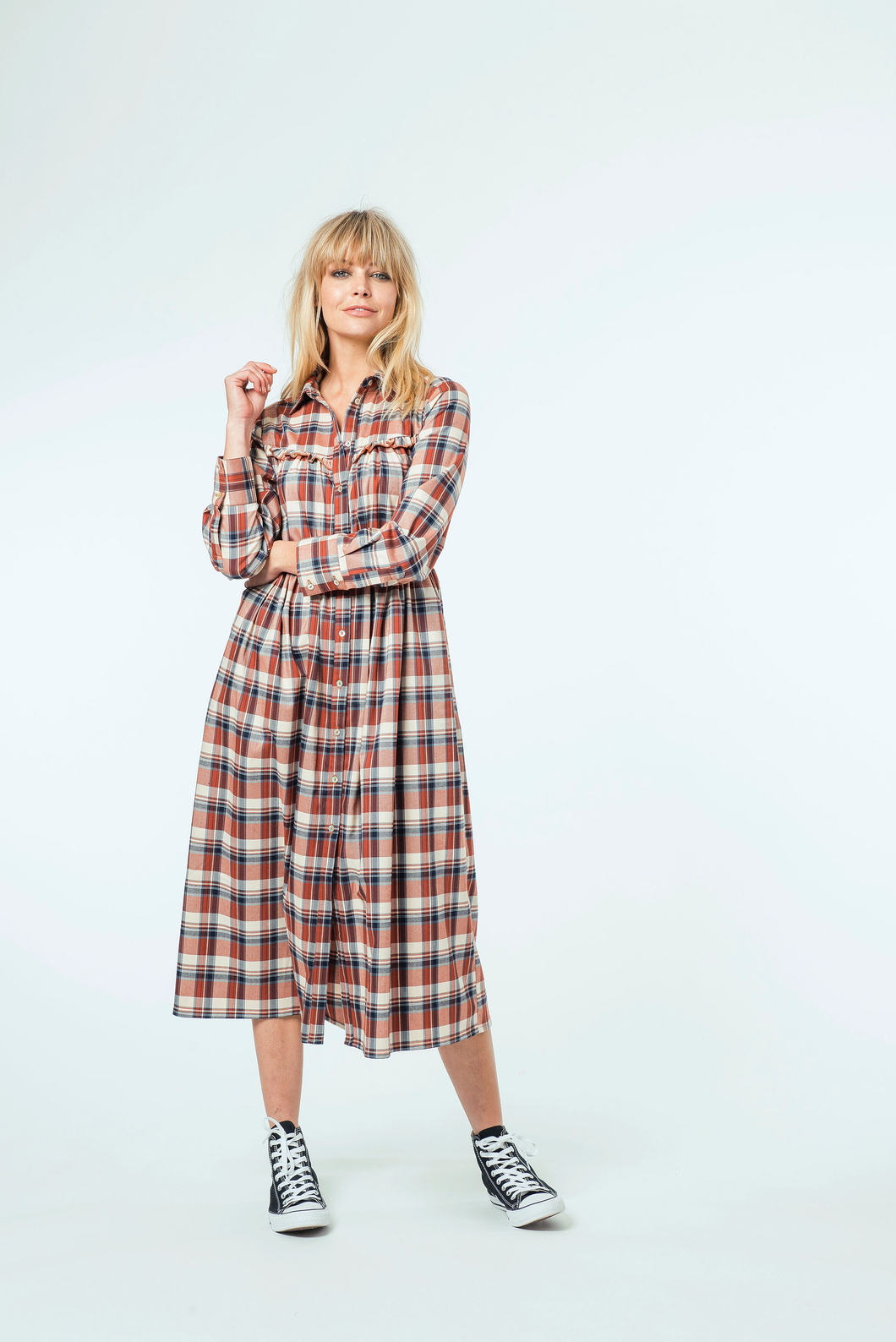 Molly Midi Dress | Country Check