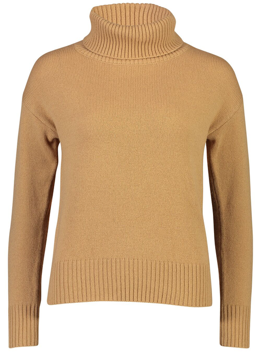 Roll Neck Jumper | Camel Cashmere