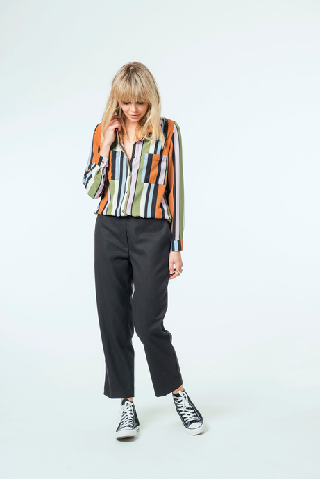 Millie Blouse | Multi Stripe
