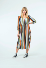 Load image into Gallery viewer, Lola Midi Dress |  Multi Stripe