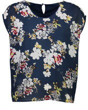 Load image into Gallery viewer, jackie top - navy floral.jpg