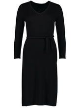 Load image into Gallery viewer, knit dress fine black_Front.jpg