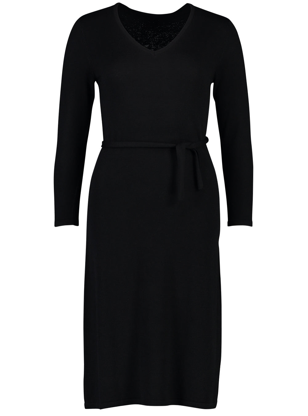 knit dress fine black_Front.jpg