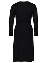 Load image into Gallery viewer, knit dress fine black _Back.jpg