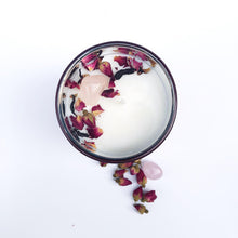 Load image into Gallery viewer, Opal + Sage | Rose Quartz Candle