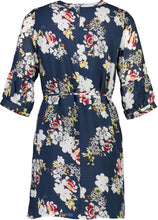 Load image into Gallery viewer, scarlet dres navy Floral _Back.jpg