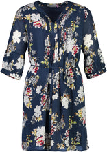 Load image into Gallery viewer, scarlet dress navy Floral _Front.jpg