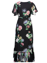 Load image into Gallery viewer, stevie Maxi Black Floral _Back.jpg