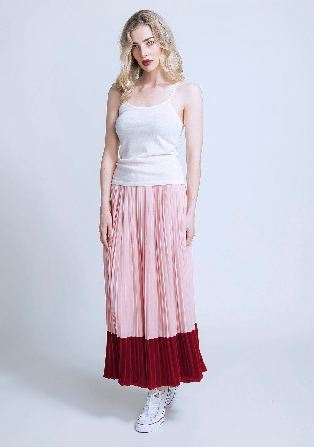 wool cami - cream & maggie skirt - blush pink.jpg