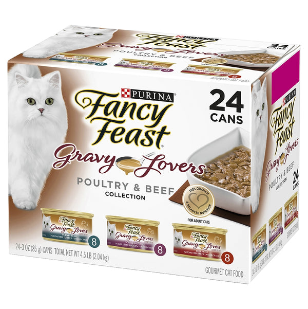 FANCY FEAST GRAVY LOVERS PLTRY BF 85GX24