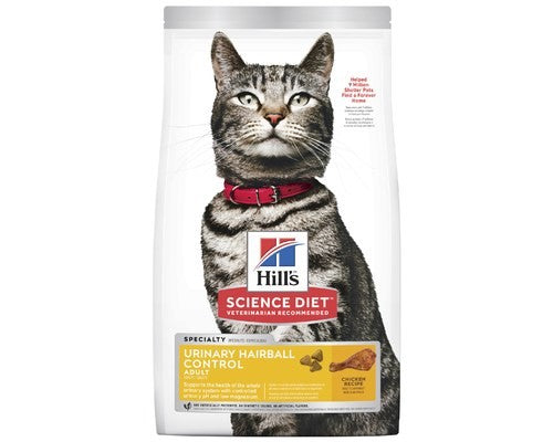 SCIENCE DIET URINARY HAIRBALL ADULT 3.17KG