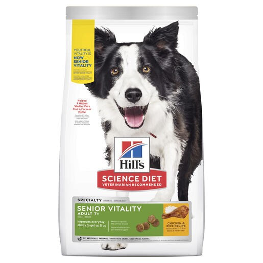 Hill's Science Diet Adult 7+ Senior Vitality Dry Dog Food 1.58kg